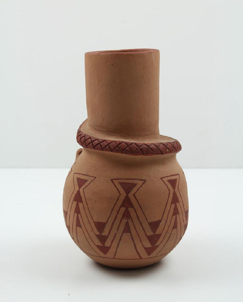 Native American, Vintage Mojave Pottery Snake Jar, by Elmer Gates, Ca 1975, #1273