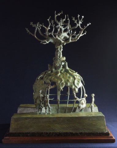 "Bronze Sculpture, ""Global Tree of Life"" by Lincoln Fox (1942-), #5 of 5 (10) 1994, #853"