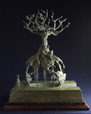 "Bronze Sculpture, ""Global Tree of Life"" by Lincoln Fox (1942-), #1 of 5 (10) 1994, #852"