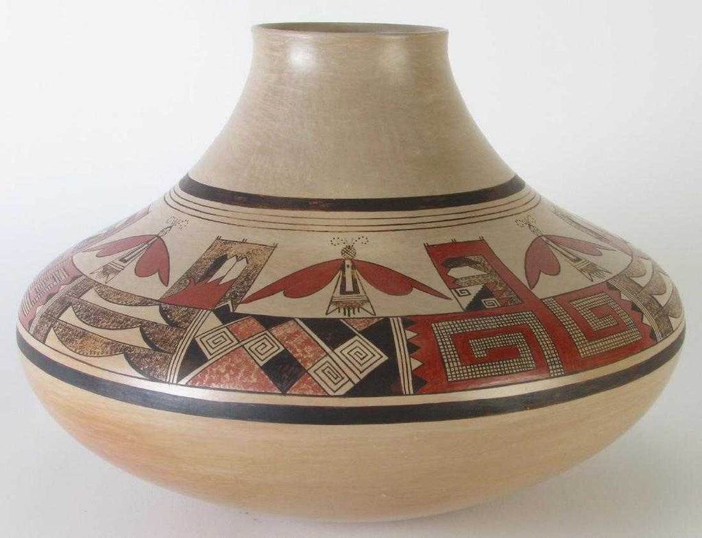 Native American Hopi Pottery Jar by James Nampeyo, Ca 1980's, #1372
