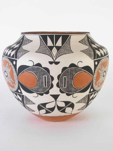 Native American Acoma Pottery Olla, by Rachel Aragon, Ca 1980's, #1374