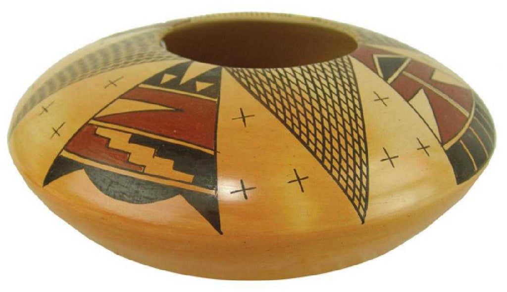 Native American Vintage Hopi Poly Chrome Bowl, by Alice Dashee, Ca 2000's, #1422