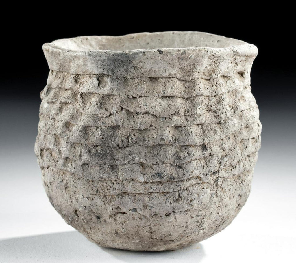 A Mogollon Corrugated Pottery Jar - From the Mesa Verde Museum, Ca 1000 to 1150 CE, #1500