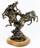 "Western Bronze Sculpture, Titled ""Pack Horse Polka"", by Kenneth Payne, AP/40, Ca 1982, #1519"