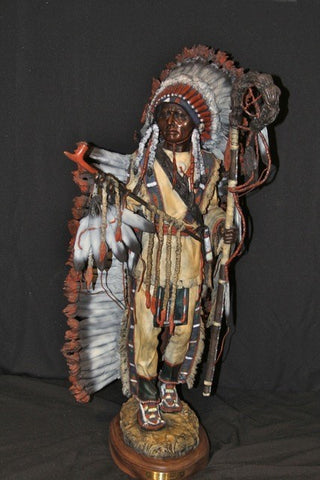"James P. Regimbal Bronze Sculpture ""Peace Maker"". Paint and Patina. Limited Edition , Made to Order, #995"