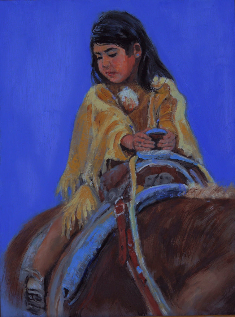 "Traditional Western Art, ""A Long Way Down"", by Linda Gulinson, #1360 Sold"