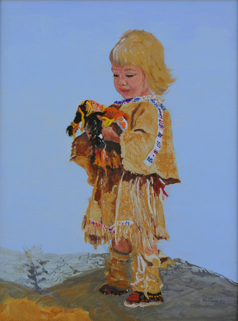 "Contemporary Western Oil Painting, Titled ""Blended Cultures"", by Linda Gulinson, #C1511"