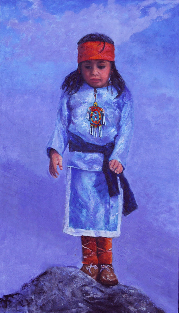 "Traditional Western Art, ""On Top Of The World"", by Linda Gulinson, #1357 Sold"