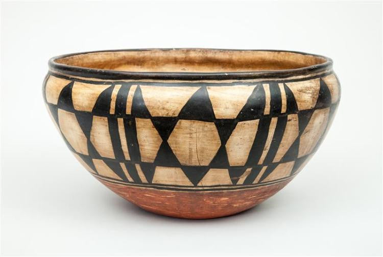 Native American Very Large Santo Domingo Pottery Bowl, Reportedly Ca 1930's, #938