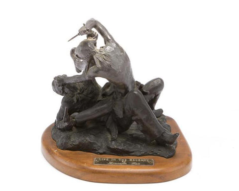 "Limited Edition Western Bronze Sculpture, ""Life in the Balance"", by Lincoln Fox (1942-), 2/20 #1254"