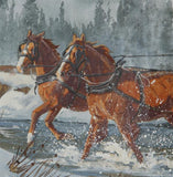 "Western Artist Ron Stewart, Water Color Painting, ""Making up Time"" #1081"