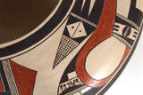 Native American, Vintage Hopi Poly Chrome Vase, by Rachel Sahmie Nampeyo, Ca 1970's, #1332 Sold