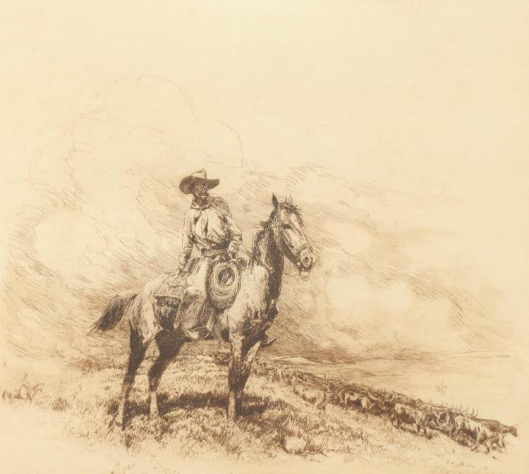 "Western Artist, Edward Borein (American, 1872-1945), ""Trail Boss"", #903-Sold Out"
