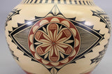 Native American, Jemez Poly Chrome Pottery Olla, by Phyllis M. Tosa, #1179