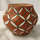 Native America, Vintage Acoma Poly Chrome Pottery Jar, by Emma Chino, Ca 1980, #1393