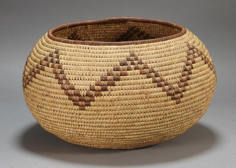 Native American Large Pima Tribe Woven Basket, # 838 Sold