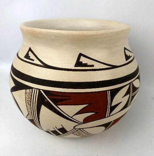 Vintage Hopi Poly Chrome Potter Bowl, by Joy Navasie (1919-2012) , Ca 1950's   #1308