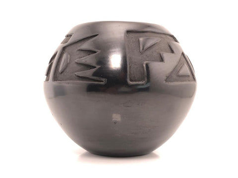 Native American, Vintage Santa Clara, Pueblo Pot, by Denise Martinez, Ca 1980's, #1508