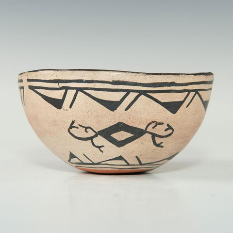 Native American, Historic Tesuque Pottery Bowl, Ca. 1930's-40's, # 1453