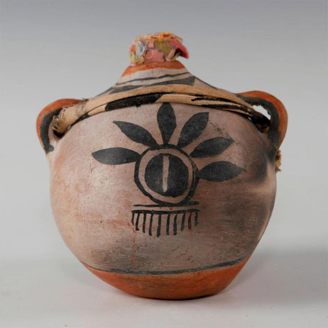 Native American, Historic Cochiti Pottery Canteen, Ca 1940's,  #1454