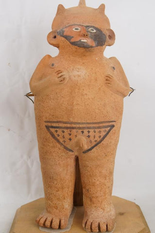Pre Columbian, Mint Chancay Standing Terra Cotta Figure, Ca. 1100 to 1400 A.D, #1269