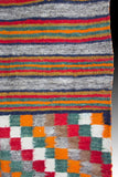 Native American, Vintage Navajo Double Saddle Blanket, Ca 1950's #1065