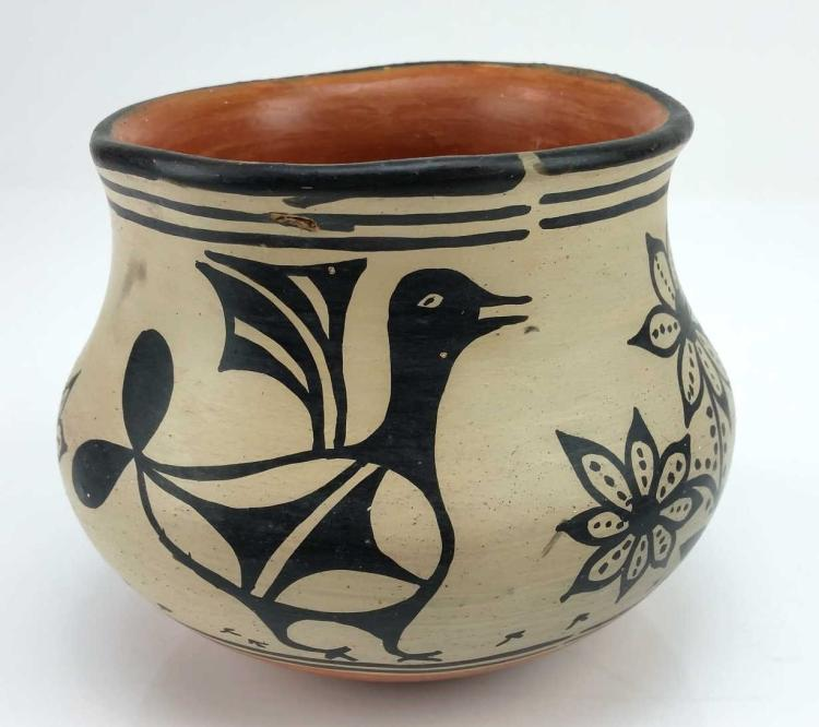 Native American, Santo Domingo Pottery Bowl, by Santana Melchor (1819-1978), Ca 1950, # 1295
