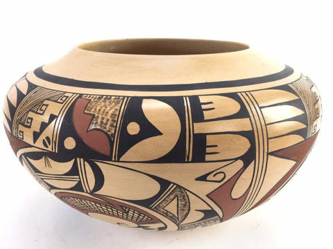 Native American Vintage Hopi Pottery Pot, by Eunice Navasie Fawn, Ca 1970's, #1321