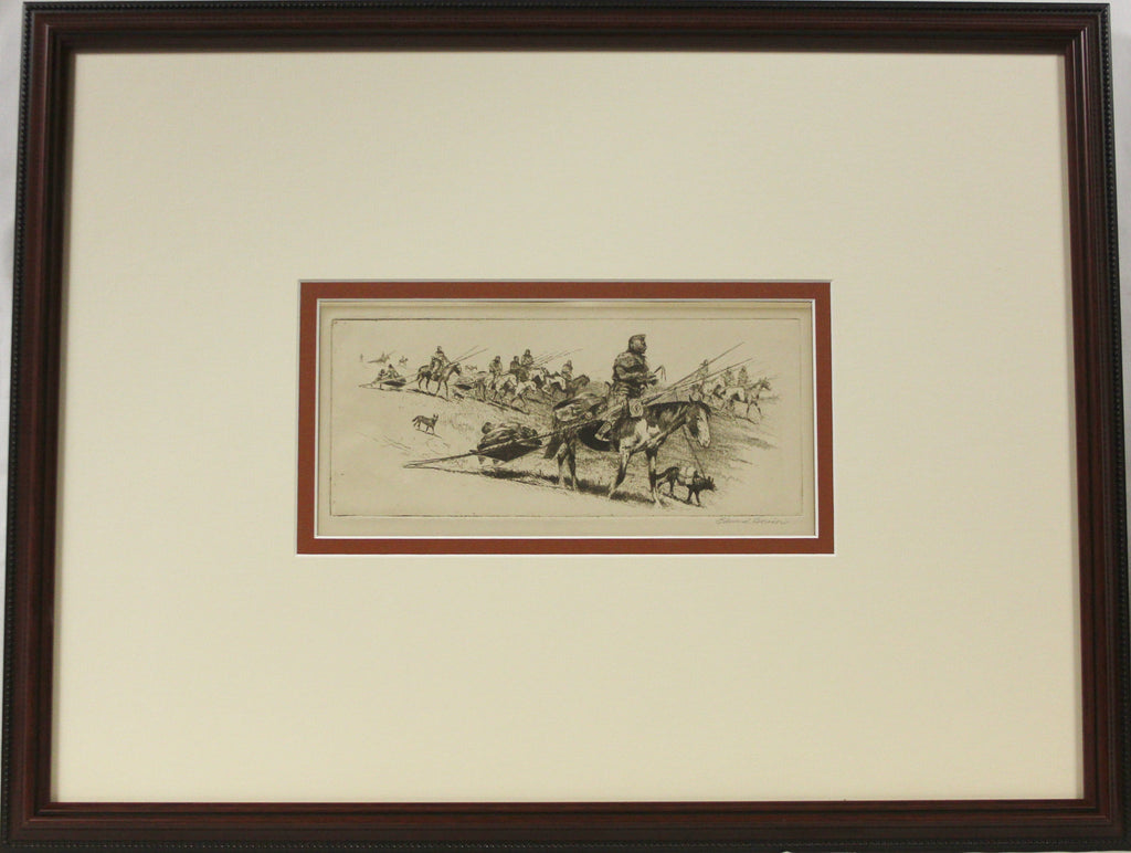 "Edward Borein Etching, ""Native American"" #820"