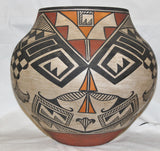 Native American Large Historic Acoma Polychrome Olla, Ca 1950's-60's, #805