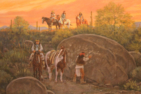 "Western Artist Ron Stewart, Oil Painting, ""The Hand of the Shaman"", #778"