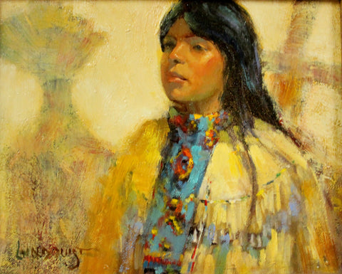 "Western Artist, Bill Lundquist, ""Apache Maiden- Sunrise Dance"", #892 Sold"
