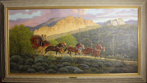 "Western Artist, Ron Stewart, Oil Painting, ""Phoenix Bound"", Ca 2015, #775 -Sold"