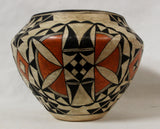 Native American Pottery, Historical Acoma Polychrome Olla, #914
