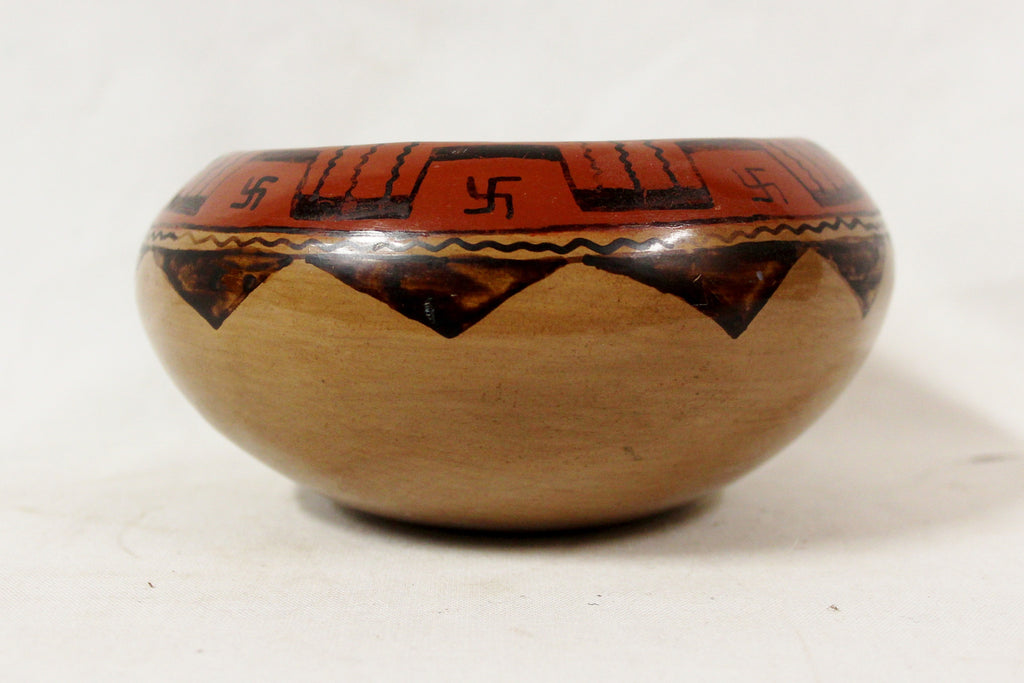 Native American Pottery, Historic Maricopa Pottery Bowl, by Mary Juan, Ca 1930's, #819 b. Sold Out