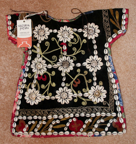 Nomadic Turkmen Cherjew Child's Ceremonial Garment  Adorned with Cowrie Shells, #910