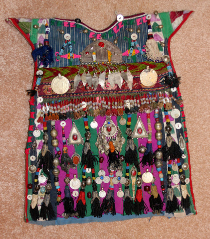 Historic Nomad Turkmen Cherjew Village Children's Ceremonial Garment, Ca 1930's, #922