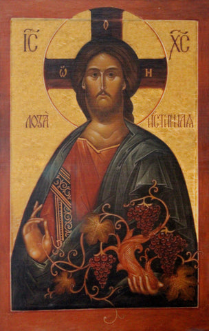 "Russian ICON Print on Canvas, ""Christ The True Vine"" Ca Moscow, 2004 # 939"