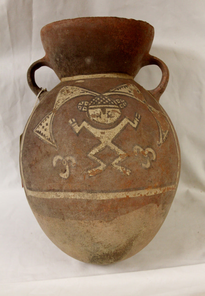 Rare Pre Colombian Ichma???, Chancay/Chimu Like Pottery Storage Container, Curiosity #7 , Ca 1000-1400 CA #950