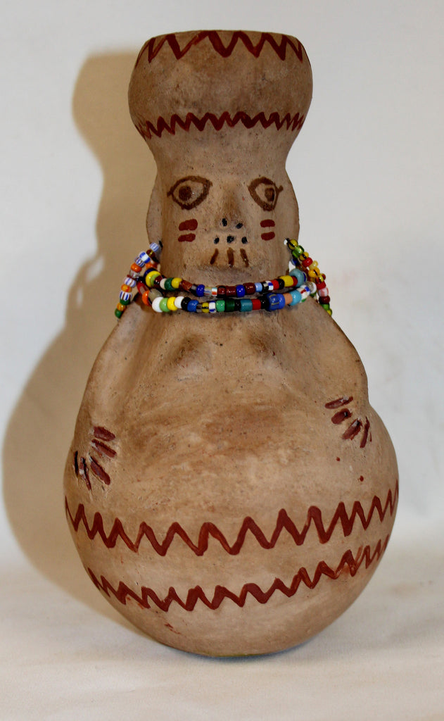 Native American Pottery, Maricopa Pottery Effigy Vase, by Theroline Bread, , #916