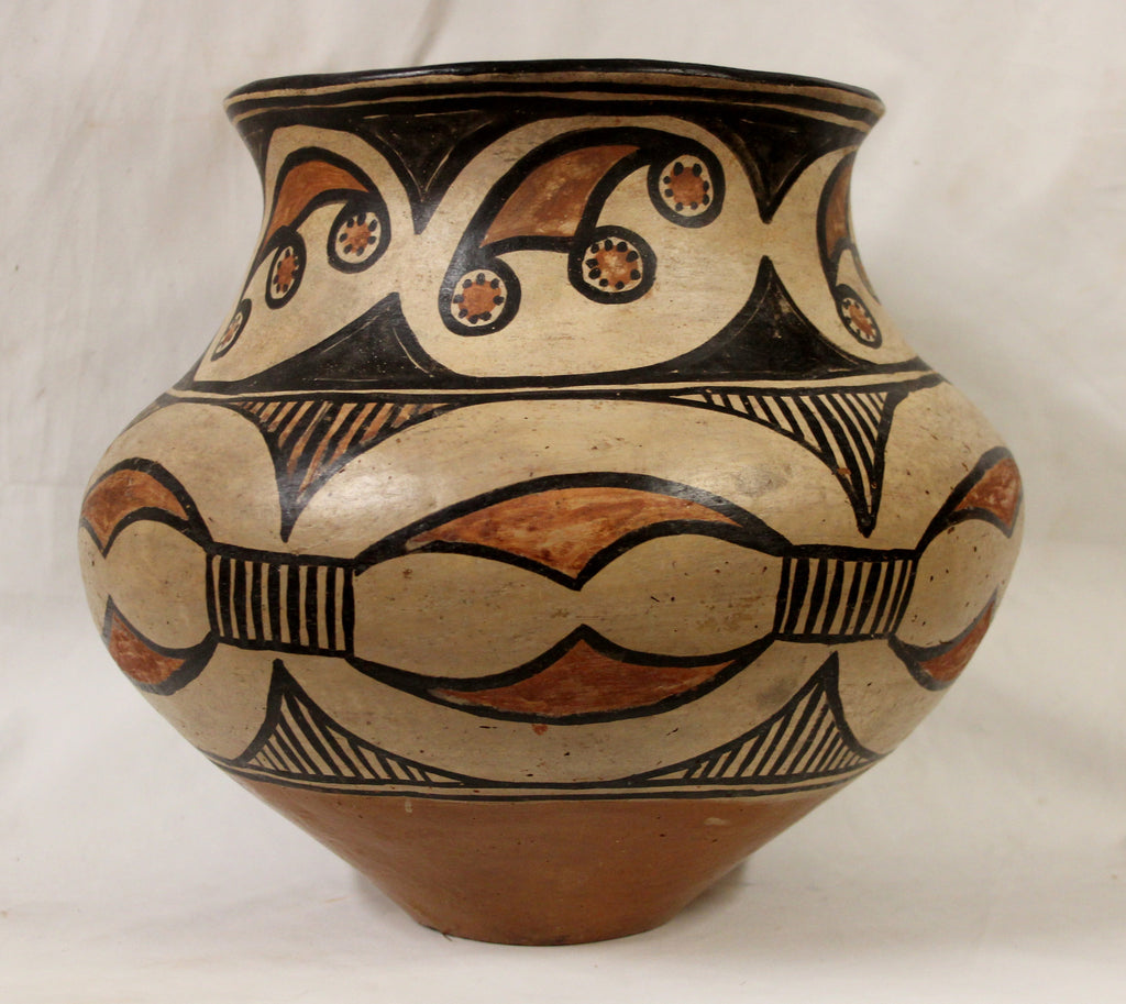 Native American, San Ildefonso Polychrome Pottery Jar, Ca 1900, #982