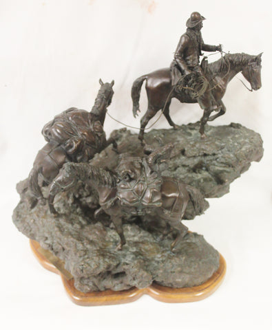 "Western Bronze, ""Rocking Trail"" by James Regimbal, Limited Edition, 23/50, Ca 1978, #990"