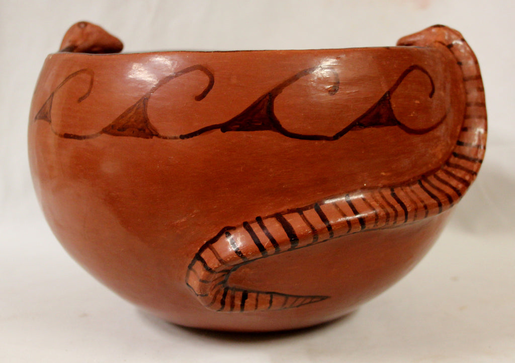 Native American, Maricopa Pottery Effigy Bowl, by Barbara Johnson, Ca 1970's, #1027 a,