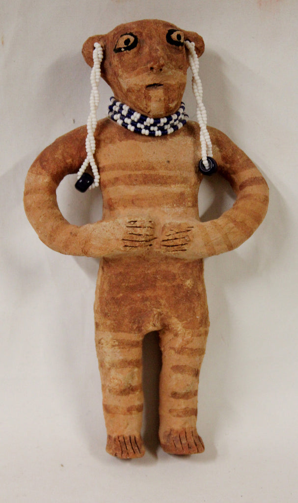 "Native American, Mohave Pottery Doll by Betty Barrackman ""Norge"", Ca 1970's #1026"