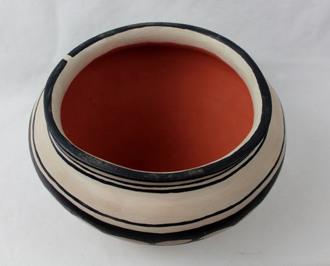 Native American, Vintage Cochitii Pueblo Pottery Bowl, by George Cordero (1944-1990) , Ca 1960 # 1201