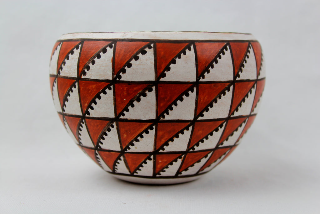 Native American, Vintage Acoma Pottery Bowl, by D.H. Sanchez, Ca 1970's, #1205