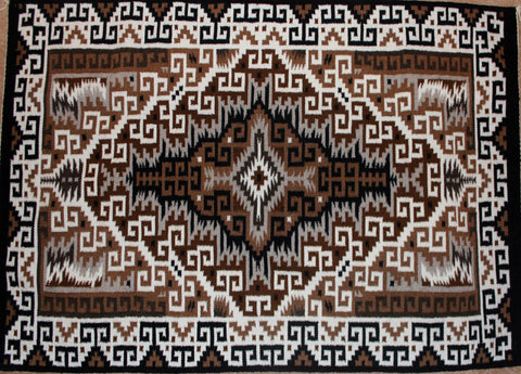 Native American, Extra Fine Exceptional, Navajo Two Gray Hills Weaving, by Teresa Begay, #1215