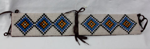Native American Hopi Ceremonial Woven Anklets, by Donald Keeverna 1979, #1261