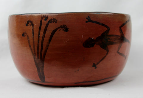 Vintage Maricopa Pottery Bowl With Anamail Motifs, Ca. 1940's,  #1281