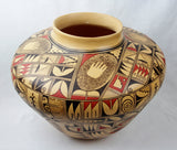 Native American, Hopi Poly Chrome Pottery Olla, by Loretta Silas, Ca 1970's, #1316